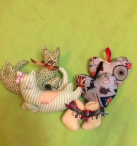 Hand made игрушки мягкие/ёлочные, сашэ