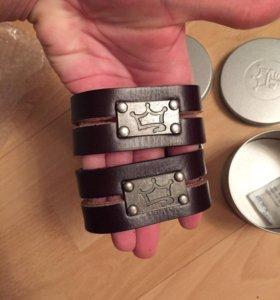 Кожаные браслеты мужские