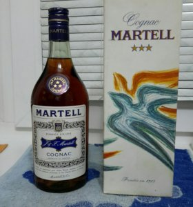 Коллекционная бутылка Martell 3 звезды 1970 год