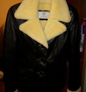 Зимняя кожаная куртка - дублёнка