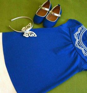 Платье, ободок и туфельки