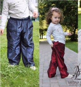штаны для девочек с начесом