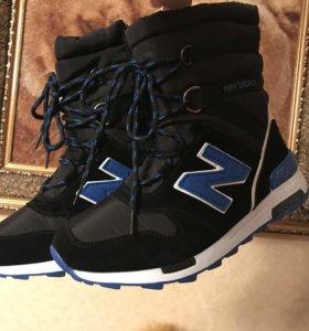 Ботинки дутики на меху new balance распродажа зимы