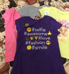 Новые футболки для девочки 4-х лет