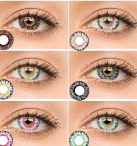 Линзы для глаз без диоптрий