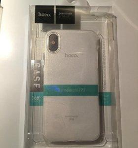 Силиконовый чехол Hoco для iPhone X