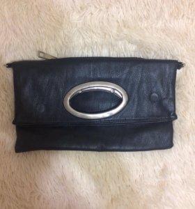 Черный клатч сумка