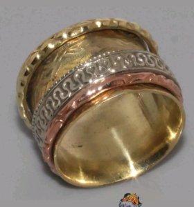 Кольцо женское Медь Серебро восточный стиль Винтаж