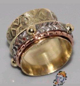 Женское кольцо Медь Серебро Восточный стиль Винтаж