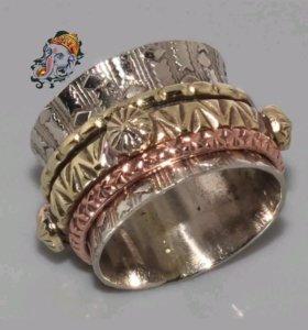Женское кольцо Восточный стиль Винтаж Медь Серебро