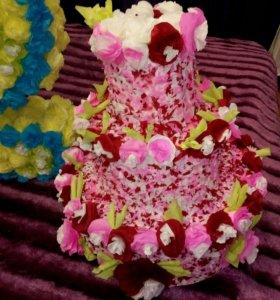 Объёмный тортик на праздник