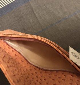Клатч сумка персиковый новый