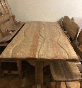 Массивный стол из сибирской сосны