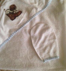 Полотенце уголок+рукавичка