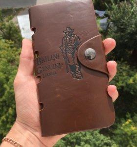 Мужской клатч кошелёк Bailini Texas Geniune