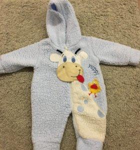 Комбинезон детский, теплый размер 56