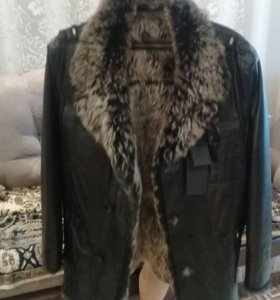 Куртка зимняя(новая), мех ягненка
