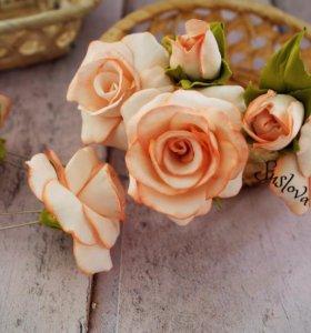 Шпильки Розы ручной работы