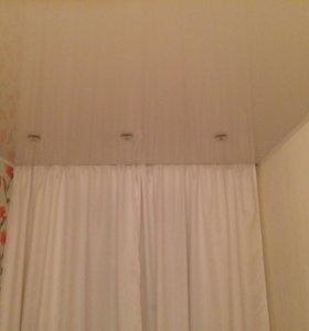 Полотно готовое, Потолок натяжной белый глянец