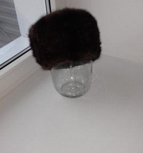 шапка формовка норковая 56 размер новая