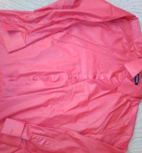 Рубашка из блестящей ткани