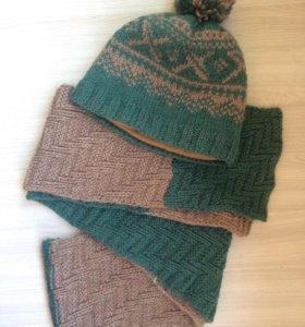Шапка и шарф (вязаные)