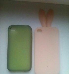 Продам Чехлы га айфон 4S ( 2 фотка немного косиков