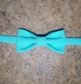 Бабочка-галстук мятного цвета мужская