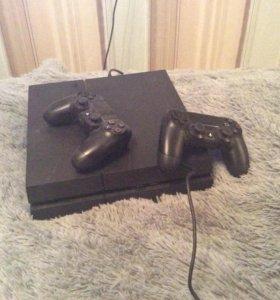 PS4 2 геймпада, куча игр
