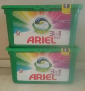 """Капсулы """"Ариэль"""" 36 шт 3 в 1 для цветного белья"""