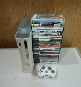 Игровая приставка Xbox 360 (прошитая) + 29 дисков