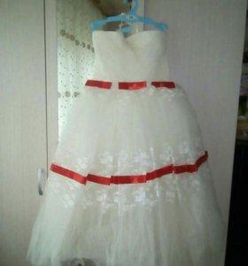 Детское платье для девочки. 6-8 лет.
