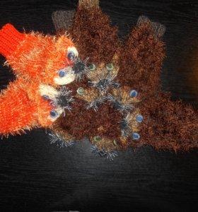 Рукавички-зверушки-- забавные игрушки