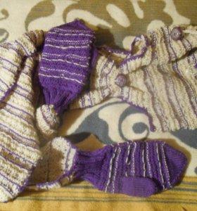 Варежки-шапка-шарф