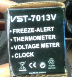 Часы,вольтметр,термометр