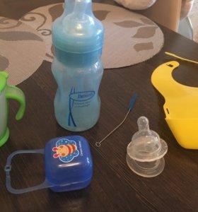Поильник, бутылочка, контейнер для соски, нагрудни