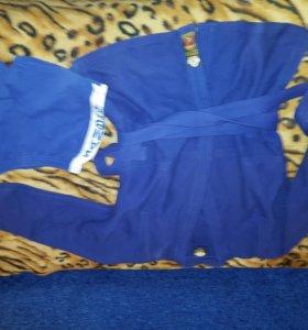 Комплект для самбо синий: куртка+шорты