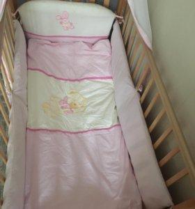 Бортики с комплектом в кроватку