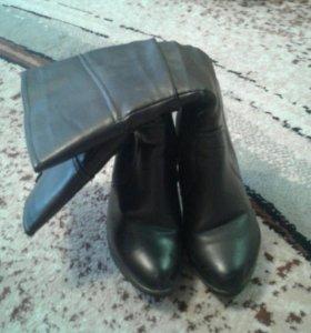 Сапоги зимние и кожаные ботиночки