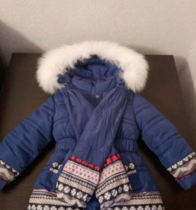 Куртка зимняя для девочки 5-6 лет