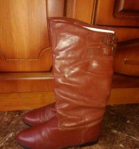 Сапоги кожаные размер 38