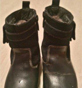 Кожанные зимнии ботинки Антилопа 14,5см
