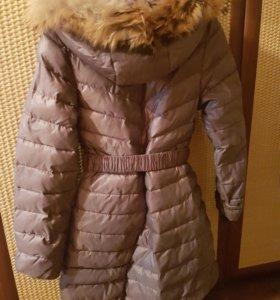 Пальто зимнее для девочки б/у