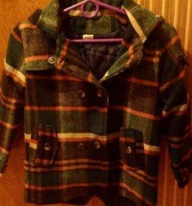 Пальто, унисекс, 6-7лет