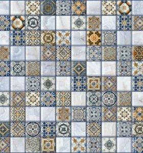 Плитка ornella синяя арт-мозаика 30х30 упак.1,35м2