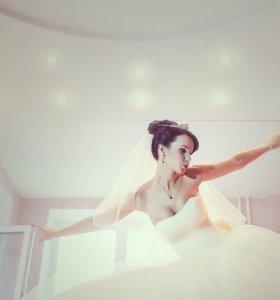 Срочно Свадебное пышное платье