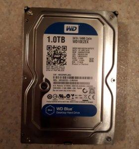 Жесткий диск WD 1TB SATA III кэш 64 MB RPM-7200