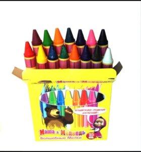 Восковые карандаши, 16 штук