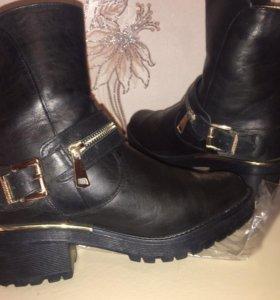 Зимние ботиночки из натуральной кожи