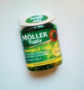 Витамины Moller Tupla: Omega-3/A/D3/E